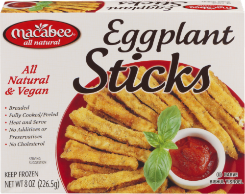 Macabee All Natural & Vegan Eggplant Sticks Perspective: front