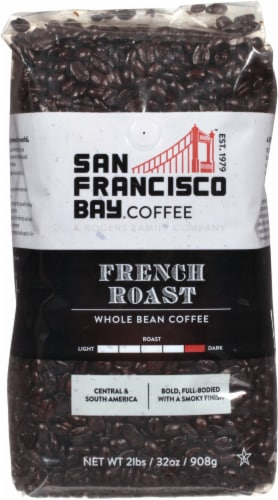 San Francisco Bay French Roast Whole Bean Coffee Perspective: front
