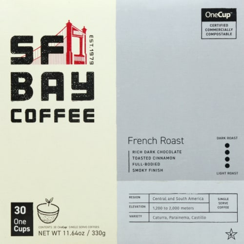 San Francisco Bay French Roast Single Serve Coffee Cups Perspective: front