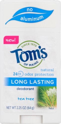 Tom's of Maine Tea Tree Long Lasting Aluminum Free  Deodorant Perspective: front