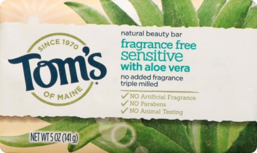Tom's Fragrance-Free Sensitive Beauty Bar Perspective: front