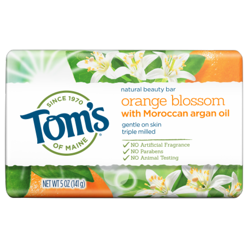 Tom's of Maine Orange Blossom Natural Beauty Bar Perspective: front