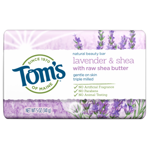 Tom's of Maine Lavender & Shea Natural Beauty Bar Perspective: front