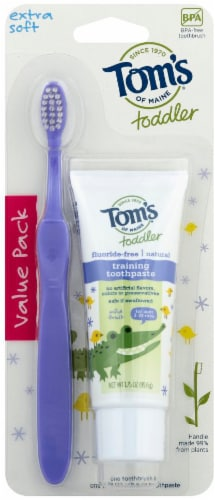 Tom's Extra Soft Toothbrush Toddler Perspective: front