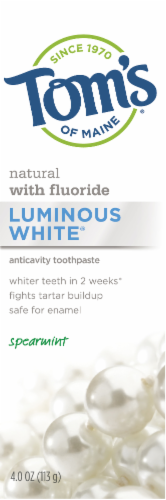 Tom's of Maine Spearmint Luminous White Anticavity Toothpaste Perspective: front