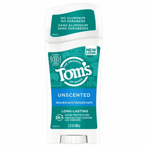 Tom's of Maine Unscented Long Lasting Deodorant Stick Perspective: front