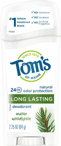 Tom's of Maine Long Lasting Maine Woodspice Natural Deodorant Stick Perspective: front
