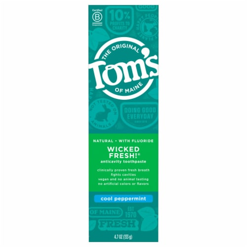 Tom's of Maine Wicked Fresh Cool Peppermint Toothpaste Perspective: front