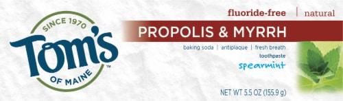 Tom's of Maine Propolis & Myrrh Spearmint Toothpaste Perspective: front