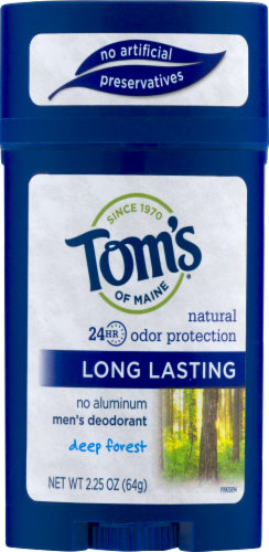 Tom's Of Maine Deep Forest Long Lasting Men's Stick Deodorant Perspective: front
