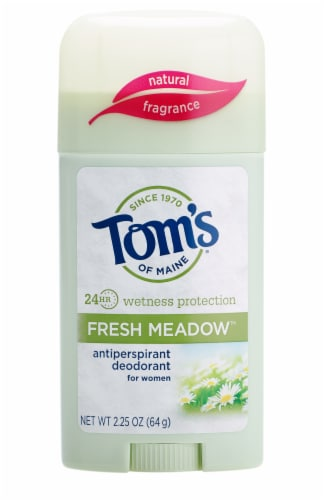 Tom's Of Maine Wetness Protection Fresh Meadow Antiperspirant Deodorant Stick Perspective: front