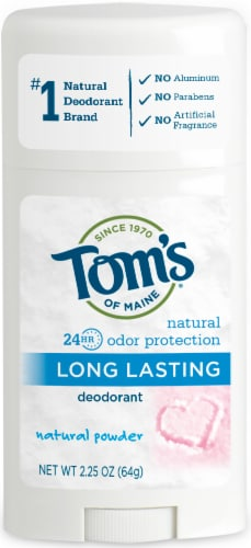 Tom's of Maine  Natural Long Lasting Natural Powder Deodorant Stick Perspective: front