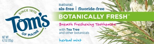 Tom's of Maine Herbal Mint Botanically Fresh Fluoride Free toothpaste Toothpaste Perspective: front
