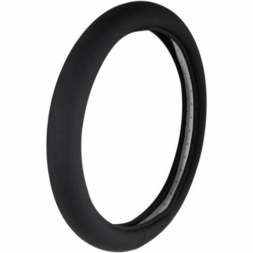 Custom Accessories Soft Grip Foam Steering Wheel Cover - Black Perspective: front