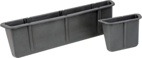 Custom Accessories Seat Wedge Organizer Set - Gray Perspective: front