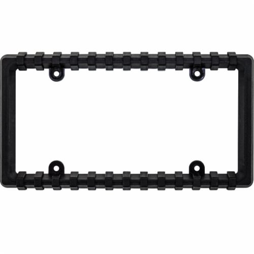 Custom Accessories Bumper Guard Frame License Plate - Black Perspective: front