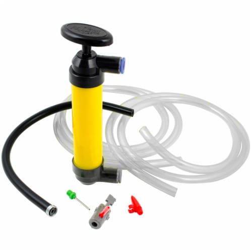 Custom Accessories Deluxe Multi-Use Siphon Pump - Black/Yellow Perspective: front