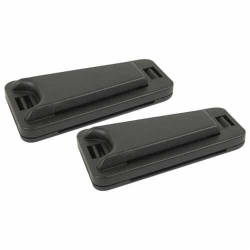 Custom Accessories Seat Belt Comfort Clip - Black Perspective: front