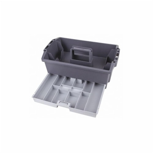 Flambeau Black; Gray,Tool Orgnzr,Copolymer Resin  16500-2 Perspective: front
