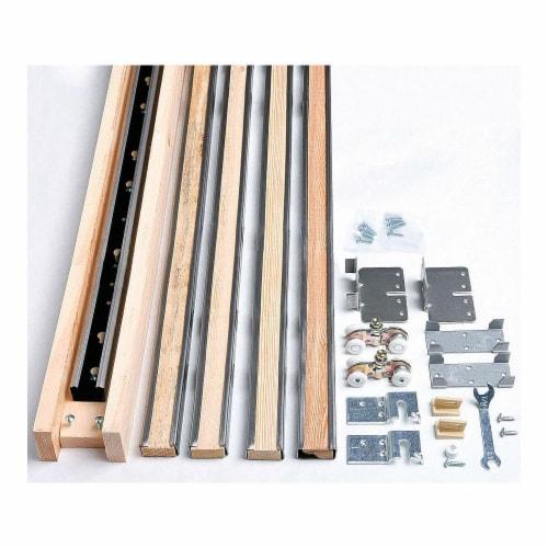 John Sterling Pocket Door Hardware Set,Mill,72 In.  R-PKF-150 Perspective: front