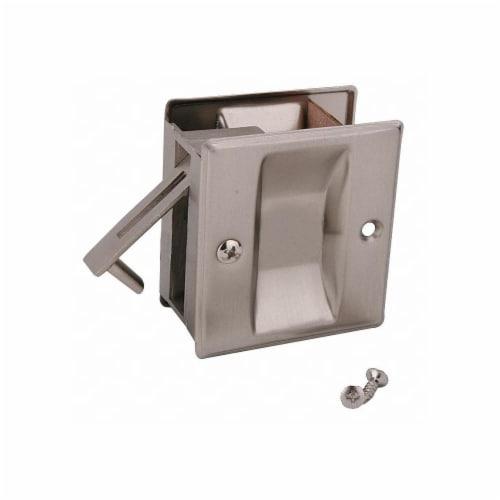John Sterling Pocket Door Passage Lock- Satin Nickel  CD-1038-US15 Perspective: front