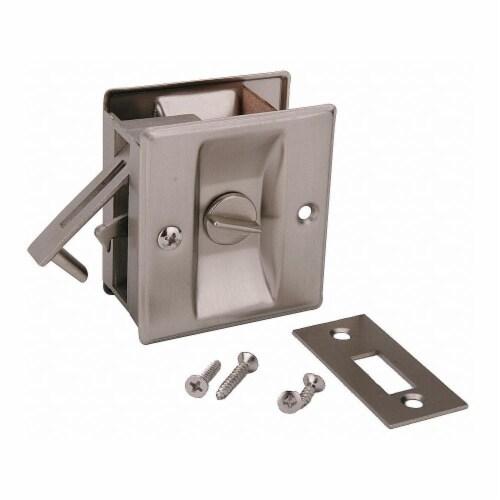 John Sterling Pocket Door Privacy Lock-Satin Nickel  CD-1039-US15 Perspective: front