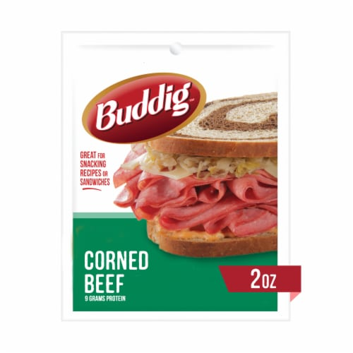 Buddig Deli Thin Corned Beef Perspective: front
