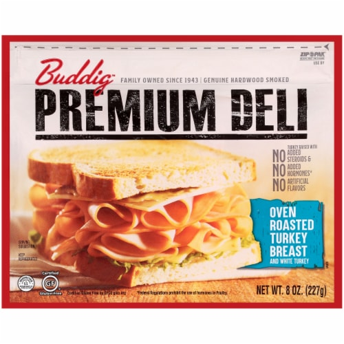 Buddig Premium Deli Oven Roasted Turkey Breast Perspective: front