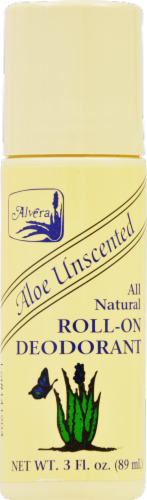 Alvera Aloe Unscented Roll-On Deodorant Perspective: front