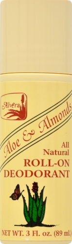 Alvera Aloe & Almond Roll-On Deodorant Perspective: front
