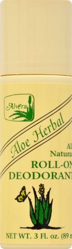 Alvera Aloe Herbal Roll-On Deodorant Perspective: front