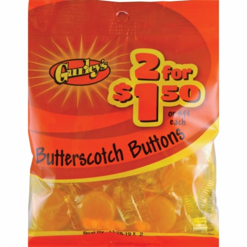 Gurley's 3.25 Oz. Butterscotch Buttons 19050 Pack of 12 Perspective: front