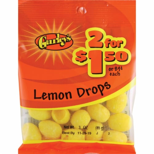 Gurley's 3 Oz. Lemon Drops 19073 Pack of 12 Perspective: front