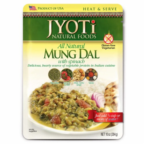 Jyoti Mung Dal With Spinach Perspective: front