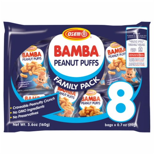 Osem Bamba Peanut Puffs Peanut Butter Snacks Perspective: front