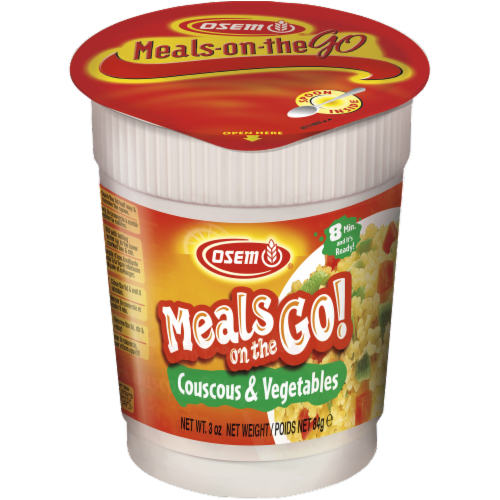 Osem Couscous & Vegetable Meal Cup Perspective: front