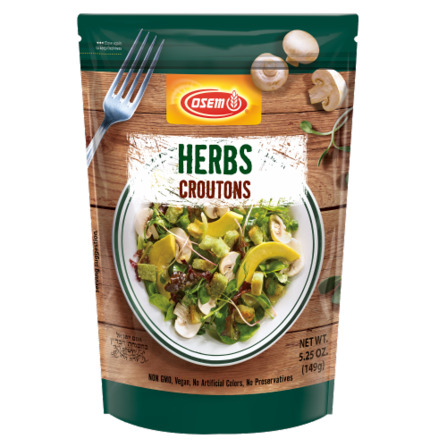 Osem Herbs Mediterranean Croutons Perspective: front