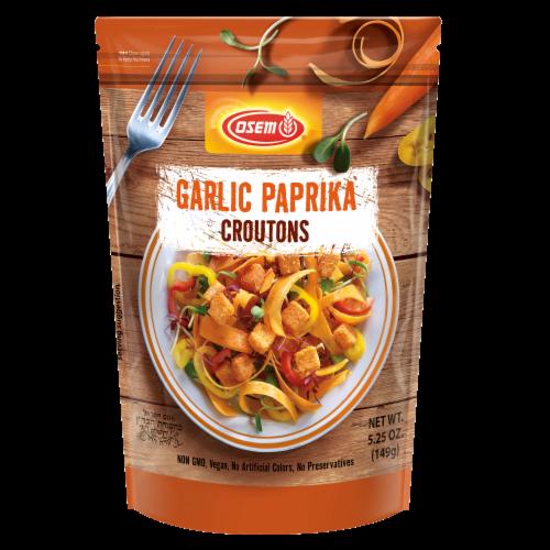 Osem Garlic Paprika Mediterranean Croutons Perspective: front