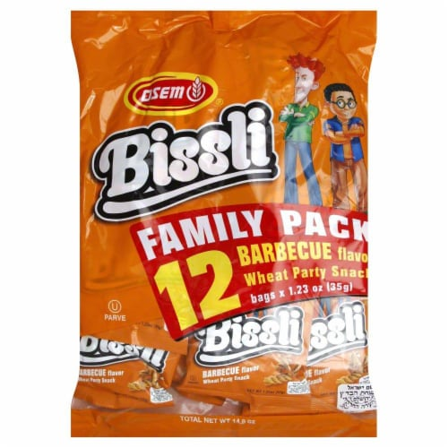 Osem Bissli Barbecue Wheat Party Snack Perspective: front