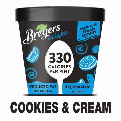 Excellent King Soopers Breyers Delights Cookies Cream Ice Cream 1 Pt Funny Birthday Cards Online Alyptdamsfinfo
