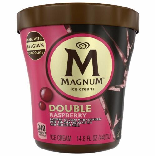 Magnum Dark Chocolate Raspberry Ice Cream Perspective: front