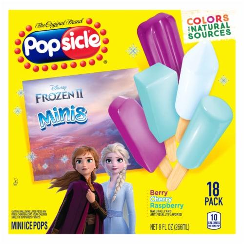 Popsicle Disney Frozen Minis Mini Ice Pops 18 Count Perspective: front