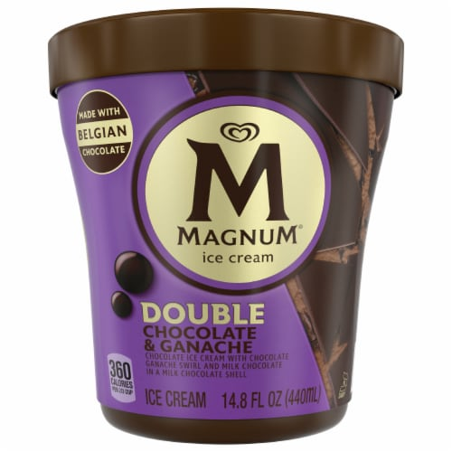 Magnum Double Chocolate & Ganache Ice Cream Perspective: front