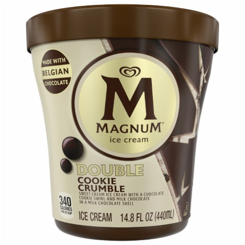 Magnum Double Cookie Crumble Ice Cream Perspective: front