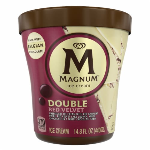 Magnum Double Red Velvet Ice Cream Perspective: front