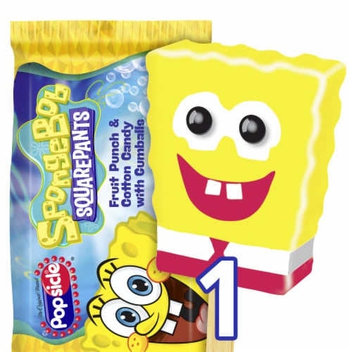 Popsicle Spongebob Squarepants Fruit Punch & Cotton Candy Ice Pop, 4 oz -  Fry's Food Stores