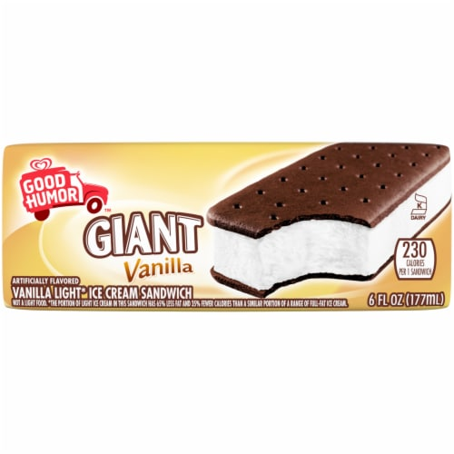 Good Humor Giant Vanilla Ice Cream Sandwich Perspective: front