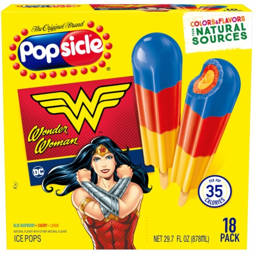 Popsicle DC Wonder Woman Ice Pops Perspective: front