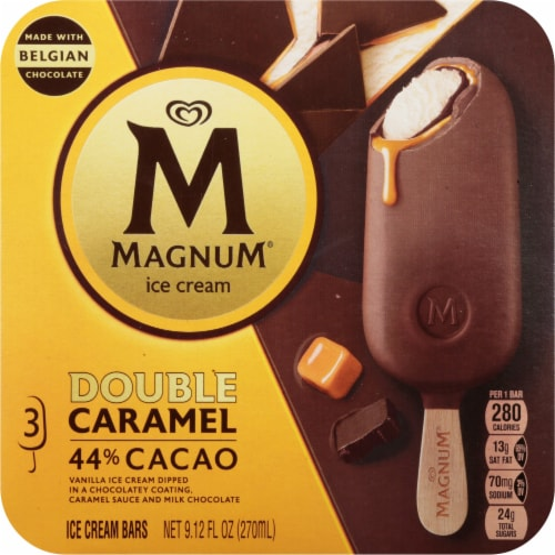 Magnum Double Caramel Vanilla Ice Cream Bars Perspective: front