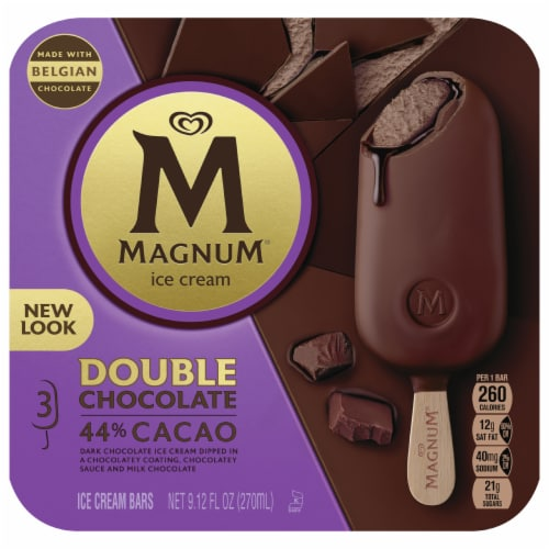 Magnum Double Chocolate Ice Cream Bars Perspective: front